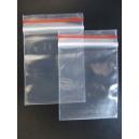 Clip seal bags resealable plastic 75x125 pkt 100