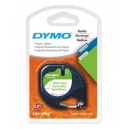 Dymo letratag paper label tape 12mm black on white pk 2