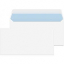 Tudor DL plain envelope peel n seal 110 x 220mm white single
