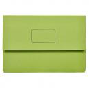 Marbig slimpick document wallet foolscap green pack 10