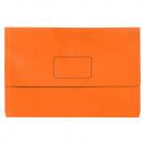 Marbig slimpick document wallet foolscap orange pack 10