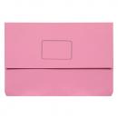 Marbig slimpick document wallet foolscap pink pack 10