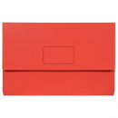 Marbig slimpick document wallet foolscap bright red pack 10