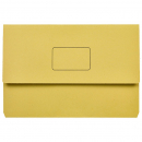 Marbig slimpick document wallet foolscap yellow pack 10
