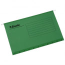 Esselte handy tab suspension files foolscap green pack 10