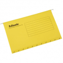 Esselte handy tab suspension files foolscap yellow pack 10