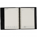Norwich financial year spiral diary A5 day to page black