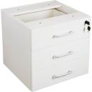 Rapid vibe desk pedestal fixed 3 box drawers lockable 465 x 447 x 454mm white