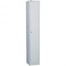 Go steel locker 1 door 305 x 455 x 1830mm silver grey