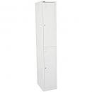 Go steel locker 2 door 305 x 455 x 1830mm white
