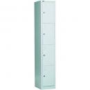Go steel locker 4 door 305 x 455 x 1830mm silver grey