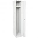 Go steel extra wide locker 1 door 380 x 455 x 1830mm silver grey