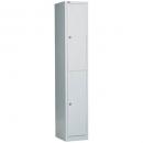 Go steel extra wide locker 2 door 380 x 455 x 1830mm silver grey