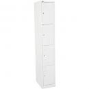 Go steel extra wide locker 4 door 380 x 455 x 1830mm silver grey