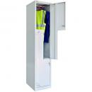 Go steel step locker 2 door 380 x 455 x 1830mm sliver grey