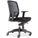 Rapidline hartley task chair mesh back with arms black