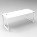 Rapid infinity 1 person single sided modular loop leg workstation 1800 x 700mm white