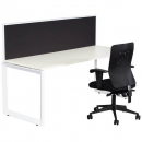 Rapid infinity 1 person single sided modular loop leg workstation with screens 1800 x 700mm white