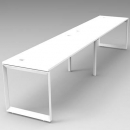 Rapid infinity 2 person double sided modular profile leg workstation 1200 x 700mm white