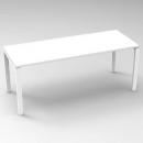 Rapid infinity 1 person single sided modular straight leg workstation 1800 x 700mm white