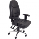 Initiative executive chair high back with adjustable arms pu black