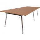 Rapidline rapid air boardroom table 2400 x 1200 x 750mm beech