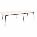 Rapidline rapid air boardroom table 2400 x 1200 x 750mm white