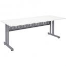 Rapid span c leg desk metal modesty panel 1500 x 700mm white/silver