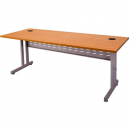 Rapid span c leg desk metal modesty panel 1800 x 700mm beech/silver