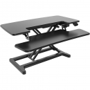 Rapid flux electric height adjustable desk riser 880 x 415mm black