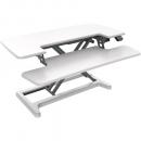 Rapid flux electric height adjustable desk riser 950 x 415mm white