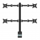 Rapidline revolve quad screen monitor arm black