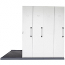 Rapidline mobile shelving 4 bays 2670 x 980 x 2150mm silver grey