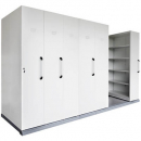Rapidline mobile shelving 6 bays 3560 x 1280 x 2150mm silver grey