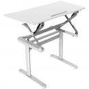 Rapid surge height adjustable desk 590 x 1190mm white