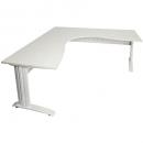 Rapid span corner desk metal modesty panel 1800 x 1200 x 700mm white