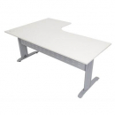 Rapid span corner desk metal modesty panel 1800 x 1500 x 700mm white