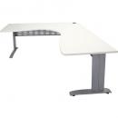 Rapid span corner desk metal modesty panel 1800 x 1800 x 700mm white