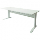 Rapid span desk metal modesty panel 1200 x 700mm white