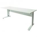 Rapid span desk metal modesty panel 1500 x 700mm white