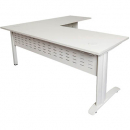 Rapid span desk and return metal modesty panel 1800 x 700mm / 1100 x 600mm white
