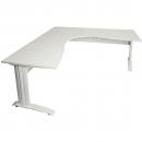 Rapid span corner desk metal modesty panel 1500 x 1500 x 700mm white