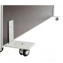Rapid screen freestanding foot with castors grey