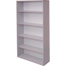 Rapid vibe bookcase 4 shelf 900 x 315 x 1800mm grey
