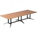 Rapidline typhoon boardroom table 3200 x 1200 x 750mm beech