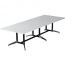 Rapidline typhoon boardroom table 3200 x 1200 x 750mm white