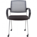 Rapidline zoom training and conference chair mesh back black/grey