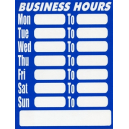 Geographics 15017 sign business hours