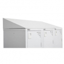 Go steel 30 degree sloping top for bank of 3 lockers 915 x 270mm silver grey