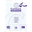 Graph pad gormack C051y blue A4 2mm 50 sheets